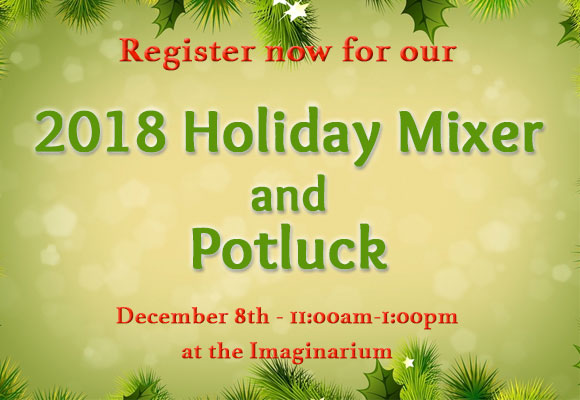 The Holiday Mixer is open to CA: North/Central members, and is a wonderful way to celebrate your creative year and spread holiday cheer. This year our mixer is an old fashioned holiday party with no presenters, sales, or promotions. We hope you'll join us and all of your SCBWI friends!