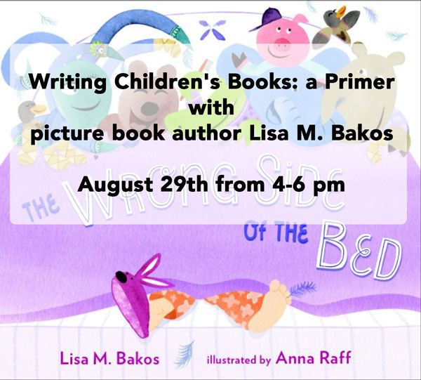 With author Lisa M. Bakos August 29th from 4-6 pm