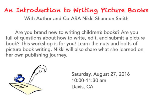 An Introduction to Writing Picture Books With Author and Co-ARA Nikki Shannon Smith