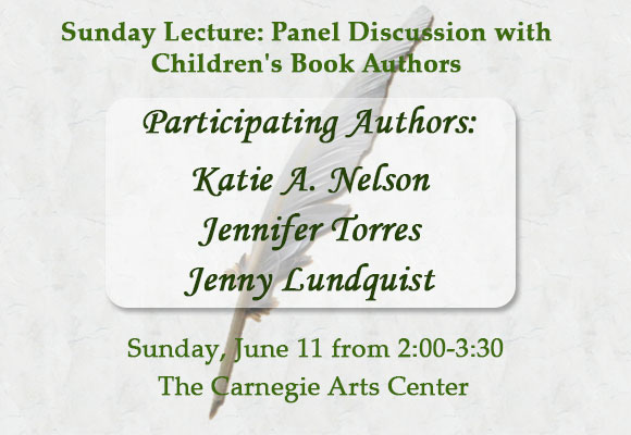 Join us for a panel of middle grade and young adult authors who will discuss their artistic process in the creation of children's books. Authors will be holding a book signing following the talk; a limited number of books will be available for purchase.